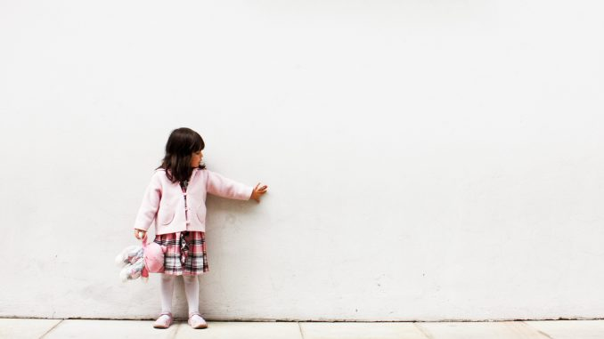 Little Girl with Imaginary Friend