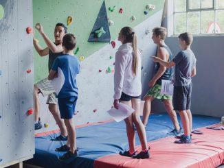 Wall Climbing Children