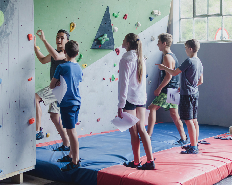 Take the challenge at the Valley Crag Rock Wall Climbing Centre