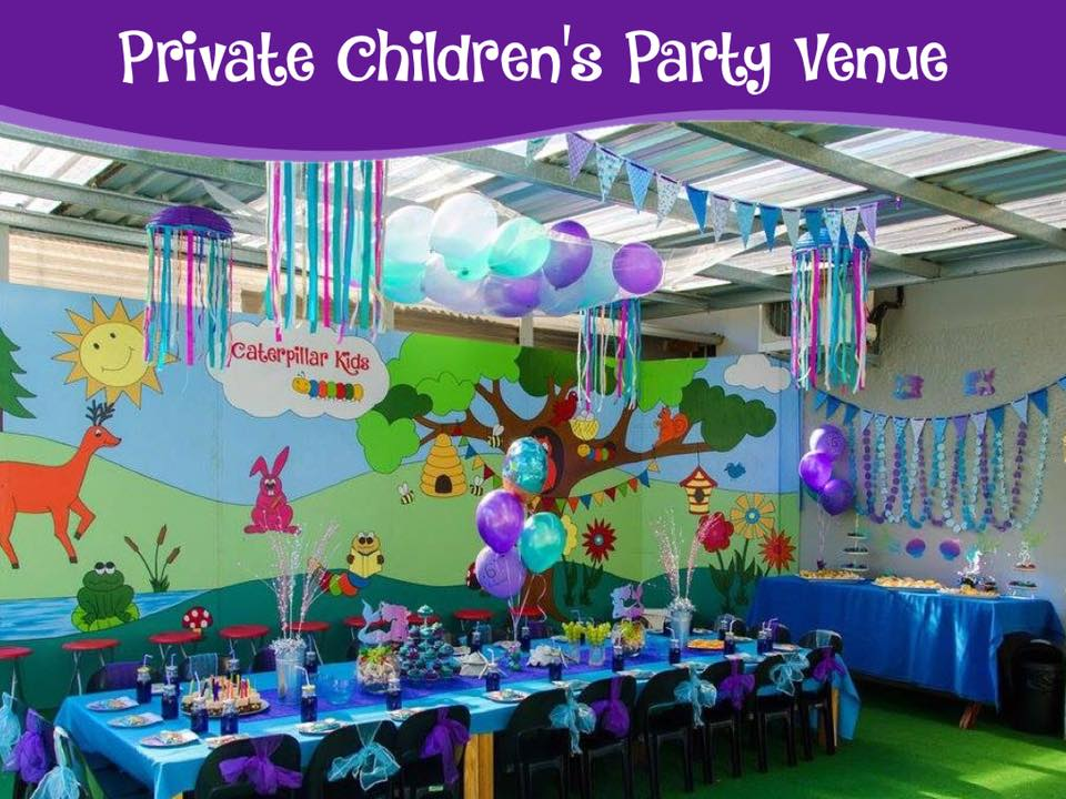 Caterpillar Kids has over 100 party themes