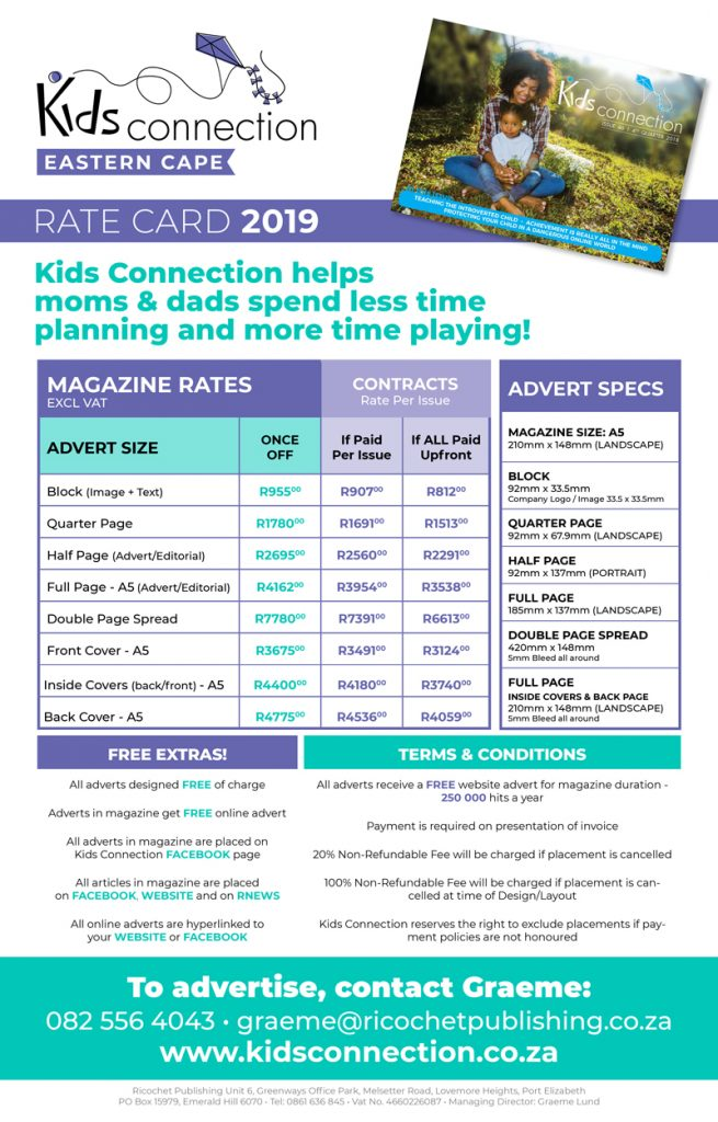 Kids Connection Rate Card 2019